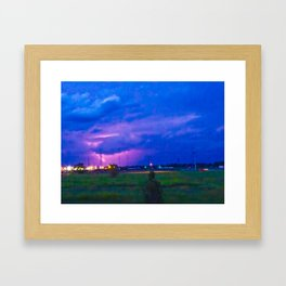 Lightning Framed Art Print