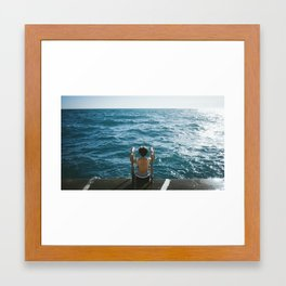 Monaco Swim #1 Framed Art Print