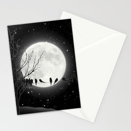Moon Bath, Birds On A Wire Stationery Cards