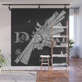 Dubai Map Wall Mural