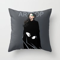 artpop Throw Pillows featuring Artpop by Annike
