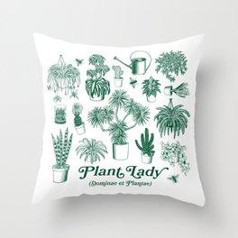 Plant Lady (dominae et plantae) Throw Pillow