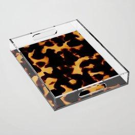 Tortoise Shell II Acrylic Tray