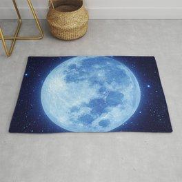 Blue Moon at night Rug