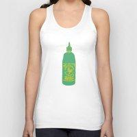 sriracha Tank Tops featuring Sriracha, The hot sauce boss  by Tricia Robinson