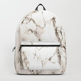 Brown Veined Marble Backpack