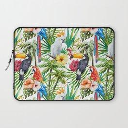 Tropical Birds Palm Trees Pattern Laptop Sleeve
