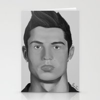 ronaldo Stationery Cards featuring Cristiano Ronaldo by OliverThor