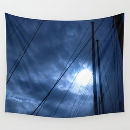 sunset and sailing Wall Tapestry