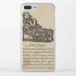 Game of Geography - America (Stefano della Bella, 1644) Clear iPhone Case