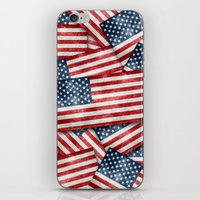american iPhone & iPod Skins featuring American by Erwin de Gruil