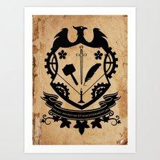Steampunk Crest Art Print