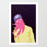 chance the rapper Art Prints featuring Chance by Popsicle Illusion
