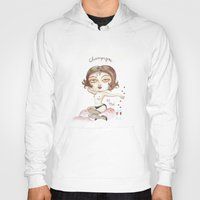 champagne Hoodies featuring Champagne by laxisca