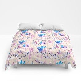 Light Neon Cacti Comforters