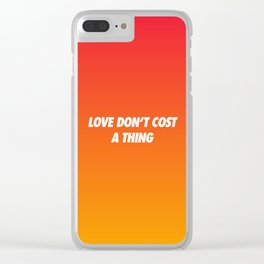#TBT - LOVEDONTCOSTATHING Clear iPhone Case