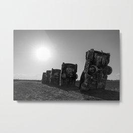 Cadillac Ranch Shadows Metal Print
