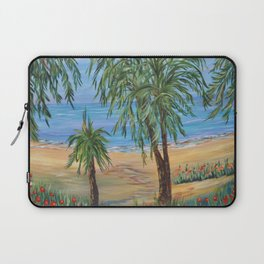 Heading to The Beach 2, Impressionism tropical beach art Laptop Sleeve
