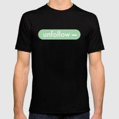 unfollow- MEDIUM Mens Fitted Tee Black