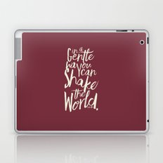 Kindness Quote by Gandhi  on Satyagraha (red version) Laptop & iPad Skin