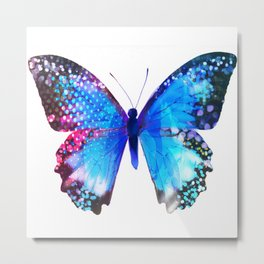 Big Blue Butterfly Metal Print