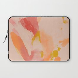 Abstract Peach Watercolor Laptop Sleeve