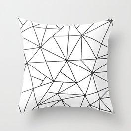 Black Web Throw Pillow