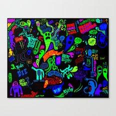 Print Brigade : Crazy Collage Colored Canvas Print