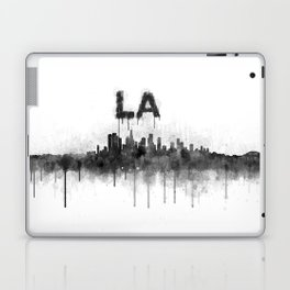 Los Angeles City Skyline HQ v5 BW Laptop & iPad Skin