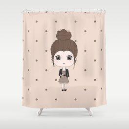 Virgo Girl Shower Curtain