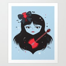 Kawaii Vampire Art Print