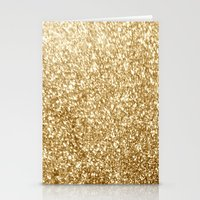 gold glitter Stationery Cards featuring Gold glitter by Masanori Kai