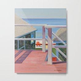 Beach Deck in Truro, MA Metal Print