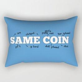 Same Coin - Blue Rectangular Pillow