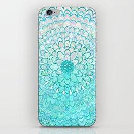 Ice Flower Mandala iPhone Skin