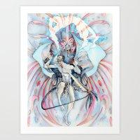 maori Art Prints featuring Maori Stingray by Alex Bayliss
