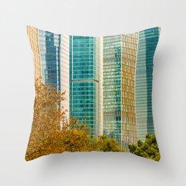 Pudong Financial District, Shanghai, China Throw Pillow