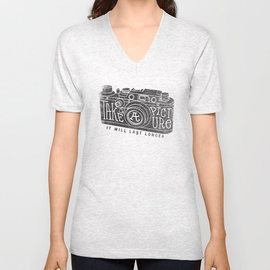 TAKE A PICTURE Unisex V-Neck