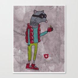 006_raccoon Canvas Print