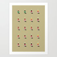 arsenal Art Prints featuring Sensible Arsenal by Turn & Face