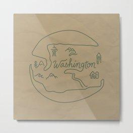 Washington State Metal Print