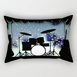 Bright Rock Band Stage Rectangular Pillow
