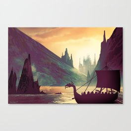 Voyage At Dawn Canvas Print