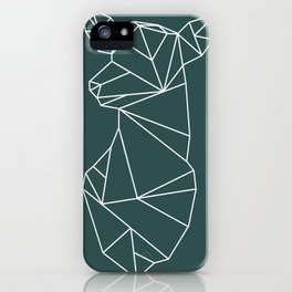 Geometric Doe (White on Slate) iPhone Case