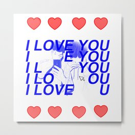Valentines day ( ◡‿◡ ♡) Metal Print