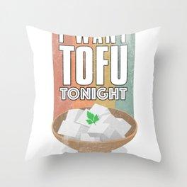 Tofu soy based plant protein vegetarian food shirt Throw Pillow