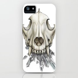Wolf Skull Crystals iPhone Case