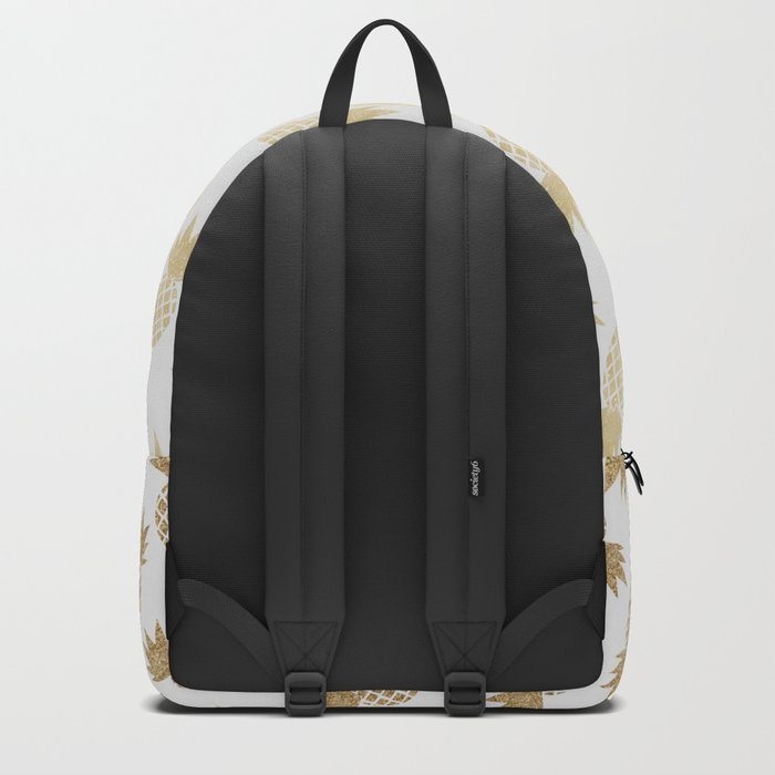 Gold Pineapple Pattern Backpack