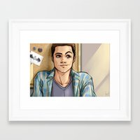 daunt Framed Art Prints featuring Snark Nerdy To Me by Daunt