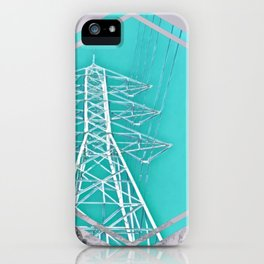 Powerlines in the Mountain Sky iPhone Case